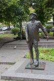 基辅,乌克兰- 2017年8月06日:对文艺英雄Panikovsky的纪念碑 免版税库存照片