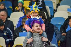 基辅,乌克兰- 2017年10月09日:有attribu的一个小女孩 库存图片