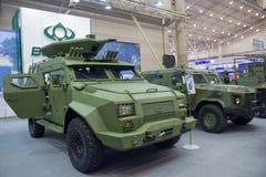 基辅,乌克兰- 2016年10月12日:乌克兰生产的防弹车公司波格丹 库存照片