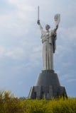 基辅,乌克兰- 2017年4月16日:亦称祖国纪念碑Rodina席子`,致力巨大爱国战争 免版税图库摄影