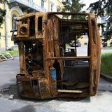 基辅,乌克兰- 2014年6月13日:在革命以后的基辅Maidan 图库摄影