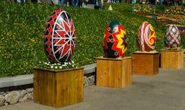 基辅,乌克兰- 2017年4月17日:复活节彩蛋 库存照片