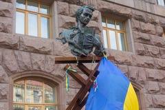 基辅,乌克兰- 2015年9月03日:对塔拉斯・舍甫琴科的纪念碑 免版税库存图片