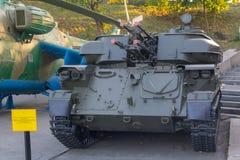 基辅,乌克兰- 2016年8月18日:自走防空武器Shilka ZSU 23-4 免版税库存照片