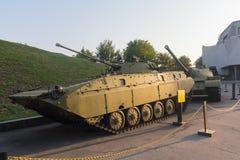 基辅,乌克兰- 2015年8月18日:苏联步兵作战车辆 图库摄影