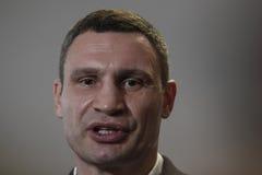 基辅,乌克兰- 2015年11月15日:Vitali Klitschko 免版税库存图片