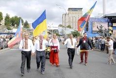 基辅,乌克兰- 2013年8月24日- Indipendence天 图库摄影
