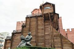 基辅,乌克兰7月18,2017 金门 在Th的历史纪念碑 图库摄影