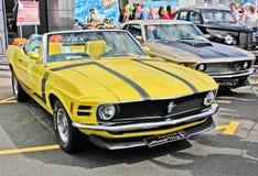 基辅,乌克兰 波兰 1970年Ford Mustang上司302 热轮子 免版税库存图片