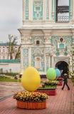 基辅,乌克兰- APRIL17 :在Eas乌克兰节日的复活节彩蛋  库存图片