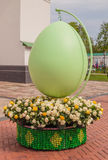 基辅,乌克兰- APRIL17 :在Eas乌克兰节日的复活节彩蛋  库存照片