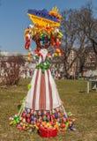 基辅,乌克兰- APRIL11 :Pysanka -乌克兰人复活节彩蛋 exhi 库存照片