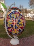 基辅,乌克兰- APRIL11 :Pysanka -乌克兰人复活节彩蛋 exhi 库存图片