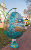 基辅,乌克兰- APRIL11 :Pysanka -乌克兰人复活节彩蛋 exhi 免版税库存照片
