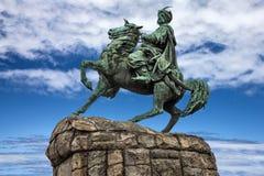 基辅,乌克兰 bogdan khmelnitsky纪念碑 图库摄影