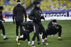 基辅,乌克兰- DEC 06 :贝希克塔什教练durin的足球运动员 库存图片