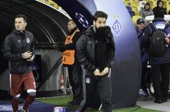 基辅,乌克兰- DEC 06 :贝希克塔什足球运动员fie的 免版税库存图片