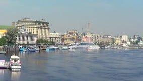 基辅,内河港 影视素材