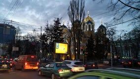 基辅-乌克兰- 2017年3月:St Volodymyr ` s大教堂晚上 免版税图库摄影