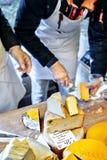 基辅- 2017年10月15日 乳酪节日在Pechersk土地的 免版税库存照片