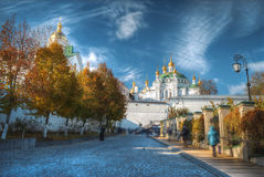 基辅lavra pechersk视图 库存图片