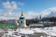 基辅lavra pechersk 正统的教会 图库摄影