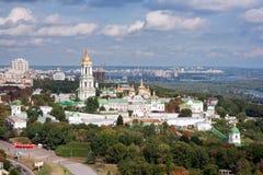 基辅Pechersk拉夫拉的鸟瞰图 图库摄影