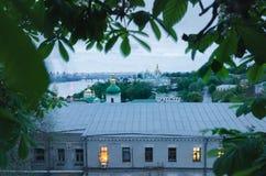基辅Pechersk拉夫拉,乌克兰,欧洲的看法 库存照片