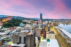 基隆,台湾地平线 免版税库存照片