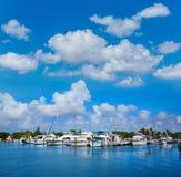 基韦斯特岛佛罗里达小游艇船坞驻军海岸线佛罗里达 库存图片