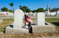 基韦斯特岛公墓 免版税图库摄影
