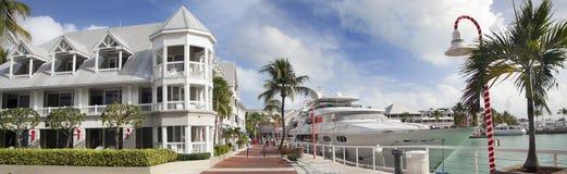 基韦斯特岛港口,佛罗里达 库存照片