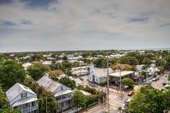 基韦斯特岛,佛罗里达的老镇零件的鸟瞰图 库存图片