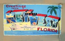从基韦斯特岛,佛罗里达的问候 免版税库存照片