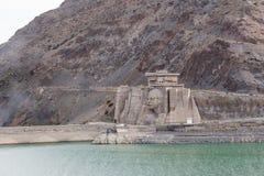 基洛夫水库水坝 修造1965年- 1975年,列宁在广告的` s面孔 库存图片