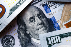 堆一百元钞票特写镜头 免版税图库摄影