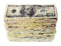 堆一百元钞票 图库摄影