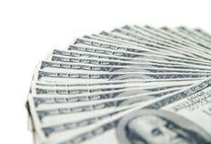 堆一百美元特写镜头 免版税图库摄影