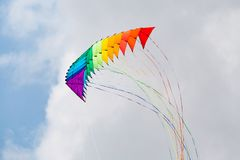 堆三角洲特技风筝 免版税库存照片