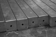 堆不锈钢正方形管 免版税图库摄影