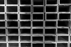 堆不锈钢正方形管 免版税库存图片