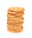 堆与坚果的曲奇饼 免版税库存照片