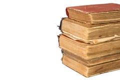 堆与空间的老被撕碎的书文本的 葡萄酒被撕毁的书 免版税图库摄影