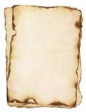 堆与被烧的边缘的老纸 免版税库存照片