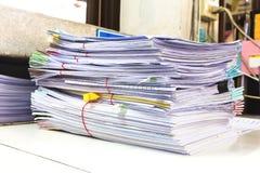 堆业务报告纸 免版税图库摄影