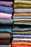 堆丝绸 免版税库存图片