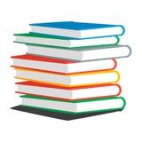 堆书或杂志的传染媒介例证 免版税库存图片