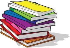 堆五颜六色的书 图库摄影