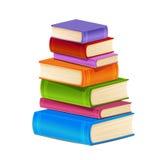 堆五颜六色的书 免版税库存照片