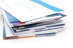 堆五颜六色的信件 库存照片